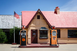 Turisteninformation, Baxter Springs, Historic Route 66, Kansas, USA