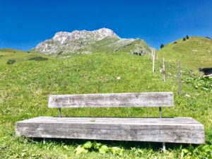 Bench, Landscape, Wood, Mountains, Meadow, Alps, Fence, Sky, Homeland, Nature, Hiking, Calm, Rest, Enjoyment, joy of living, Breathe, Recreation, Leisure, Summer, Sun, Vacation,