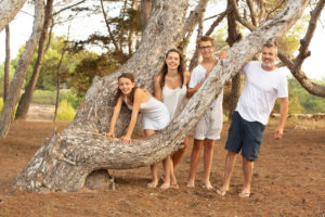 Family photo, family, forest, laugh
