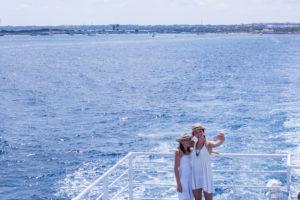 Meer, Selfie, Schwestern, Fähre