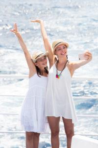 Meer, Schwestern, Selfie, Freude