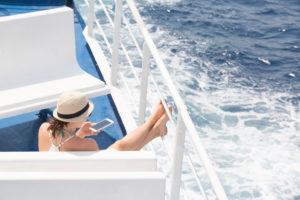 Handy, Jugendliche, Schiff, Fähre