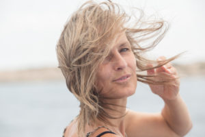 Woman, hair, wind, portrait