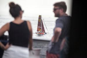 Zuschauer beim Extreme Sailing Series Barcelona 2017 Wettkampf, Barcelona, Katalonien, Spanien