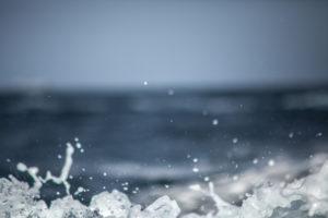 Spain, Barcelona, sea, waves