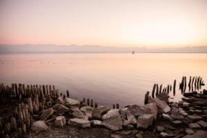 Evening mood on Lake Constance, Lindau, Bavaria, Germany