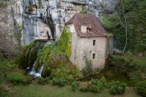 Old watermill at the river, Dordogne, France