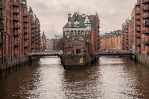Historic Speicherstadt, old town, Hamburg, Germany