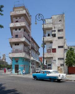 Decaying bizarre architecture, Havana, Cuba
