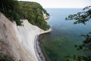Chalk cliff Königsstuhl, Stubbenkammer, Jasmund National Park, Baltic Sea, Rügen, Mecklenburg-Vorpommern, Germany