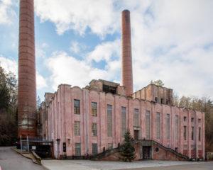 Industrial monument, former power plant of the powder factory, Rottweil am Neckar, Baden-Württemberg, Germany