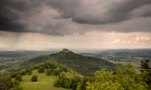 Hohenzollern Castle perched on a hill