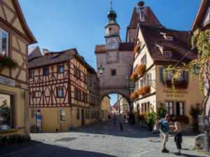 Rothenburg ob der Tauber, old town, Röder Arch and Markus Tower