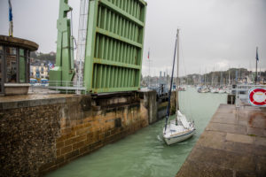 Normandy, harbour, drawbridge, sailboat, St Valery en Caux