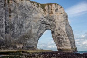 Normandy, alabaster coast, rock gate, chalk cliffs, beach, Atlantic Ocean