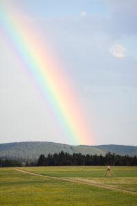 Rainbow on the Swabian Jura
