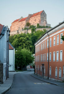 Castle over the old town of Burghausen