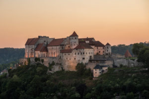 Burghausen Castle, longest castle in the world in the evening light