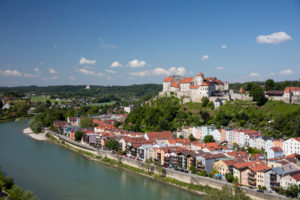Old town with the longest castle in the world Burghausen an der Salzach