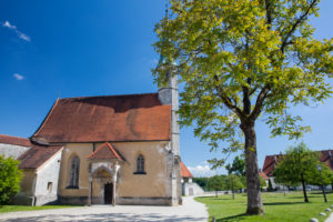 Burg Church of Burghausen Castle, longest castle in the world