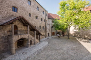 Burghausen Castle, longest castle in the world, courtyard