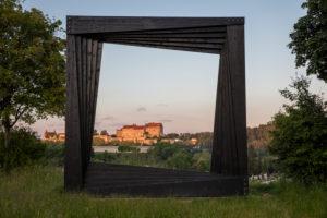 Burghausen Castle, the longest castle in the world, framed in art frames