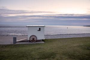 Beach wagons, bathing carts, beach, North Sea, Büsum