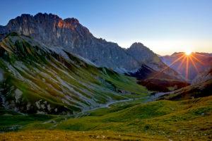 Austria, Tyrol, Wetterstein Range, Wetterstein mountains, Schüsselkarspitze (mountain)