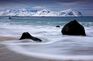 Norway, beach close Vilden