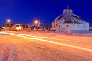North America, Canada, Northwest Territory, Dempster Highway, Inuvik, Church