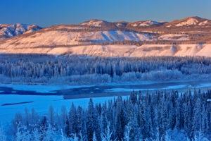 North America, Canada, Yukon, Yukon Territory, Klondike Highway, Yukon River, Yukon