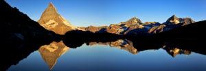 Switzerland, canton of Valais, Matterhorn, Grünsee