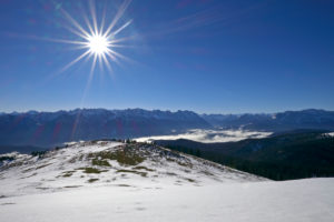 Germany, Bavaria, Upper Bavaria, Tölzer country, Bavarian Alpine foothills, Simetsberg, view at the Karwendelgebirge and Wettersteinwand