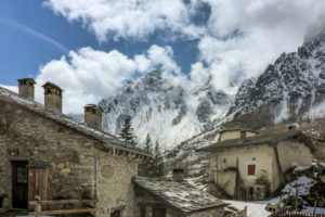 Italy, Piedmont province of Cuneo, Cottian Alps, Valle Maira Dora-Maira massif, Chiappera ski tour
