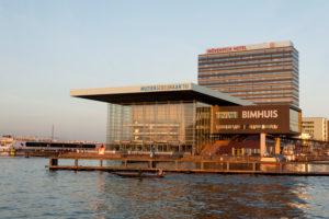 Muziekgebouw aan het Ij, concert hall at the Ij, Amsterdam, Holland, Netherlands