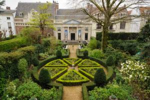 Garden of the museum 'van Loon', ''Keizersgracht'' (canal), Amsterdam, Holland, Netherlands