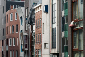 Residential houses on the Java-eiland, Amsterdam, Holland, Netherlands