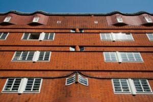 Het Schip, apartement block in 'Spaarndammerbuurt' (neighborhood), Amsterdam-West, scholl of Amsterdam, Amsterdam, Holland, Netherlands