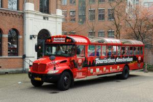Sightseeing, round trip, tourist bus, Amsterdam, Holland, Netherlands