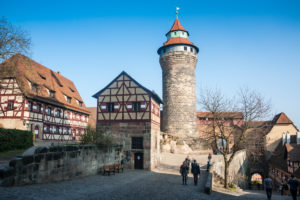 The imperial castle of Nuremberg, Bavaria, Germany