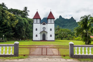 Haapiti Catholic Church , Moorea, French Polynesia