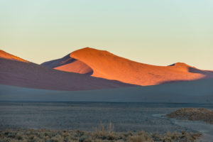 Sunset on the  Namib-Naukluft National Park, Namibia
