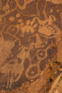 ancient rock engravings, Unesco world heritage sight, Twyfelfontein, Namibia