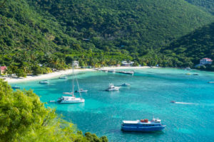 Boat harbour in Jost Van Dyke, British Virgin Islands