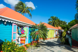 Colourful souvenir shops in Roadtown, Tortola, British Virgin Islands