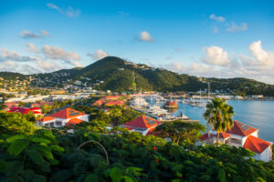 Overlook over Charlotte Amalie capital of St. Thomas, US Virgin Islands