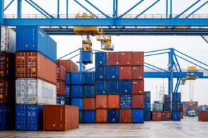 Container terminal duisport logport, Port of Duisburg, Duisburg, Ruhr area, North Rhine-Westphalia, Germany, Europe