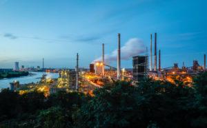 ThyssenKrupp Steel Europe, KBS - Schwelgern coking plant in Duisburg-Marxloh, Duisburg, Ruhr area, North Rhine-Westphalia, Germany, Europe