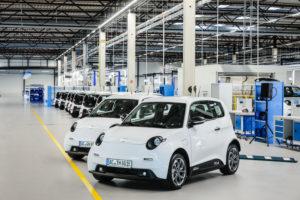 e.GO Life electric cars, assembly hall, e.GO Mobile, Aachen, North Rhine-Westphalia, Germany