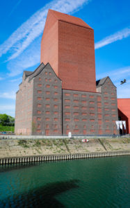 State archive NRW in the inner harbor of Duisburg, Ruhr area, North Rhine-Westphalia, Germany